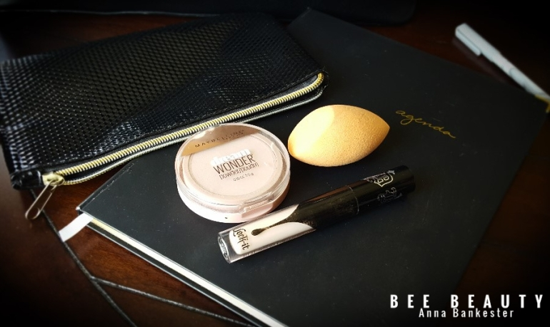 Maybelline Dream Wonder Powder. Real Techniques Miracle Complexion Sponge, Kat Von D Lock-It Creme Concealer