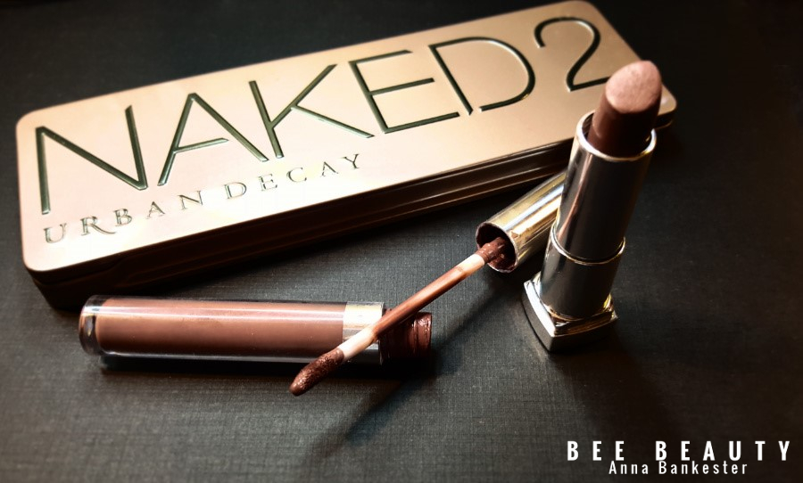 Urban Decay Naked 2. Colourpop Ultra Matte Liquid Lipstick in Kapow. Maybelline Loaded Bolds in Gone Greige.