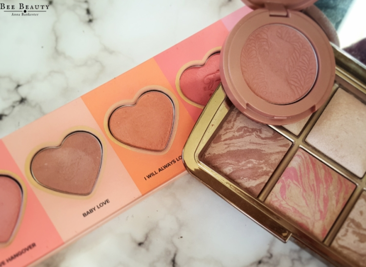 Too Faced Love Flush Blush - Baby Love + I Will Always Love You. Tarte Amazonian Clay Blush - Paarty. Hourglass Ambient Lighting Blush - Mood Exposure + Luminous Flush