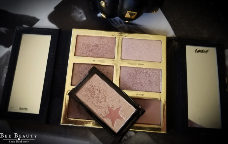 Tarte Tarteist Pro Glow Palette and Wet N Wild Gold Bar Highlighter.