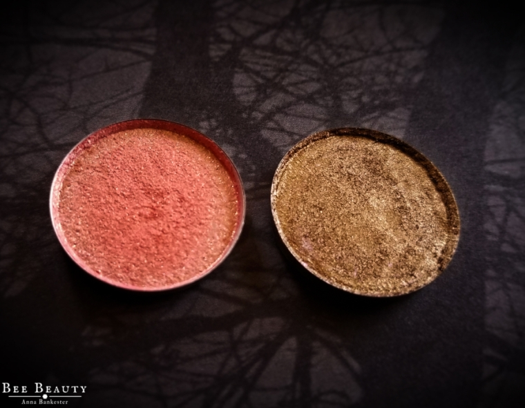 Sparrow Cosmetics Eyeshadow Singles in Mr.Mint and Gloopy