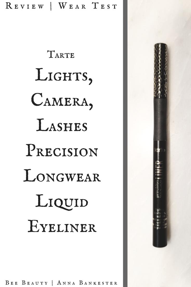 Tarte Lights, Camera, Lashes Precision Longwear Liquid Eyeliner Review + Wear Test