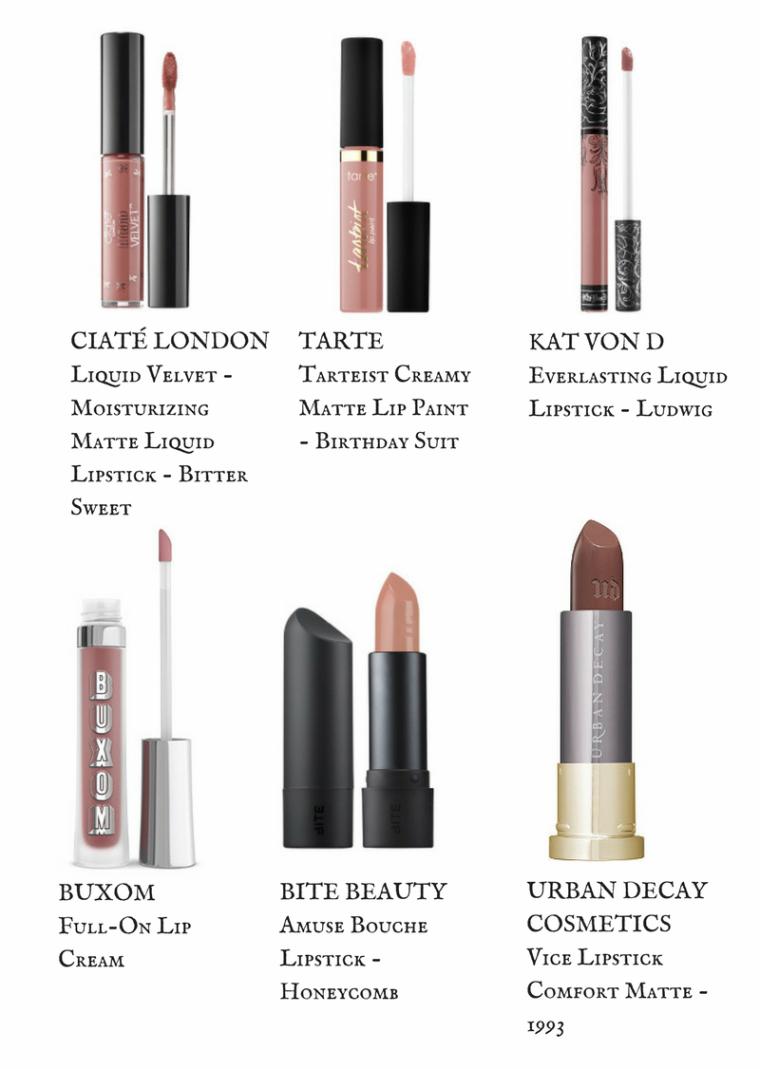 Ciate Moisturizing Matte Liquid Lipstick.  Buxom Full-On Lip Cream.  Bite Beauty Amuse Bouche Lipstick.  Urban Decay Vice Lipstick Comfort Matte.