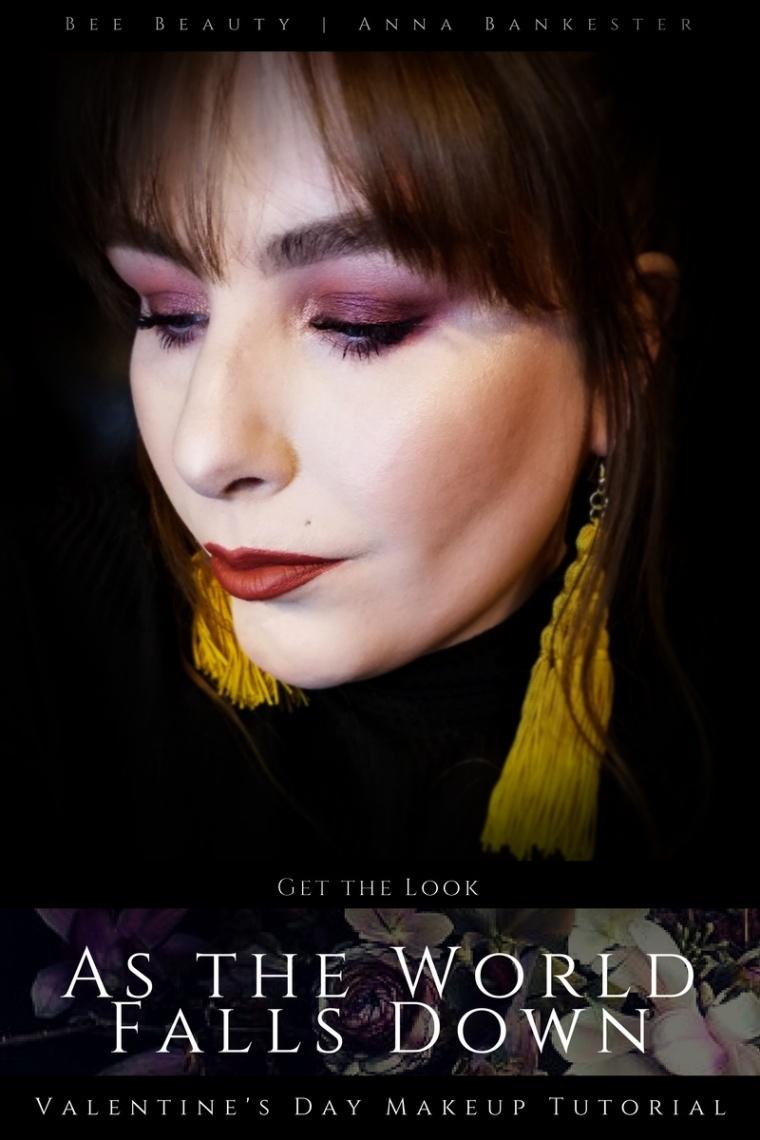 Get the Look | As the World Falls Down - Valentine's Makeup Tutorial Featuring Huda Beauty Desert Dusk + Colourpop.