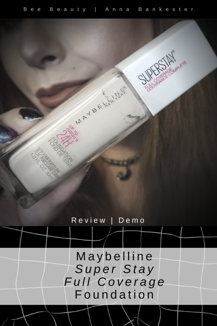 Maybelline Super Stay Full Coverage Foundation Review + Demo