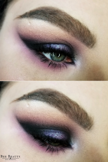 Get the Look | Tech Noir - Retro Futurism/Vaporwave/Cyberpunk Halo Eye Makeup Tutorial Inspired by Gunship Feat. Huda Beauty