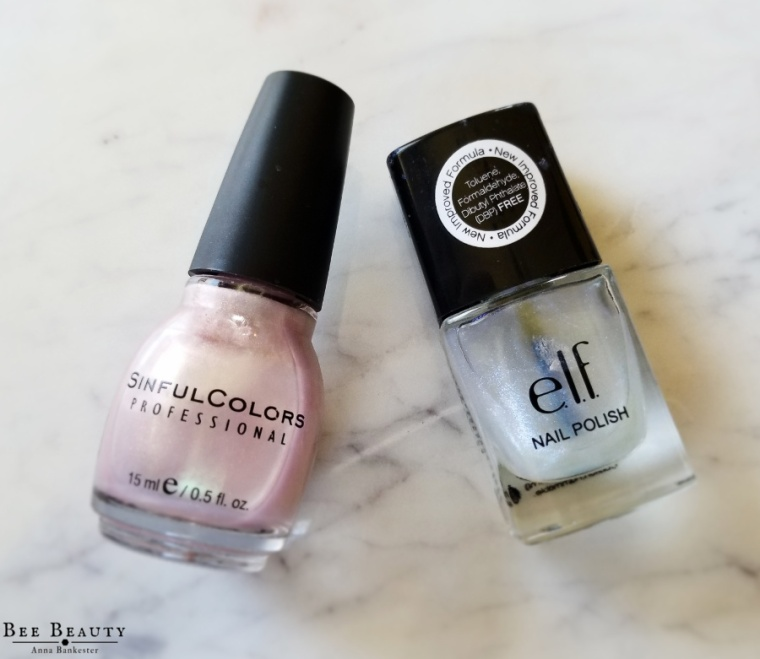 Sinful Colors in Just You Wait. ELF Nail Polish in Big Bang Blue.