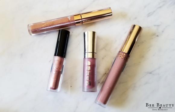 Colourpop Ultra Glossy Lip in Moonchild. Colourpop Ultra Glossy Lip in Charming. Buxom Full on Lip Polish in Dolly. Lancome LE METALLIQUE METALLIC LIP LACQUER in Mirrored Nude.