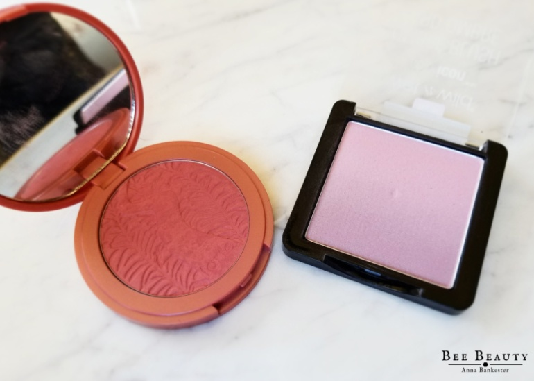 Wet N Wild Color Icon Ombre Blush in Purple Haze. Tarte Amazonian Clay Blush in Deserving.