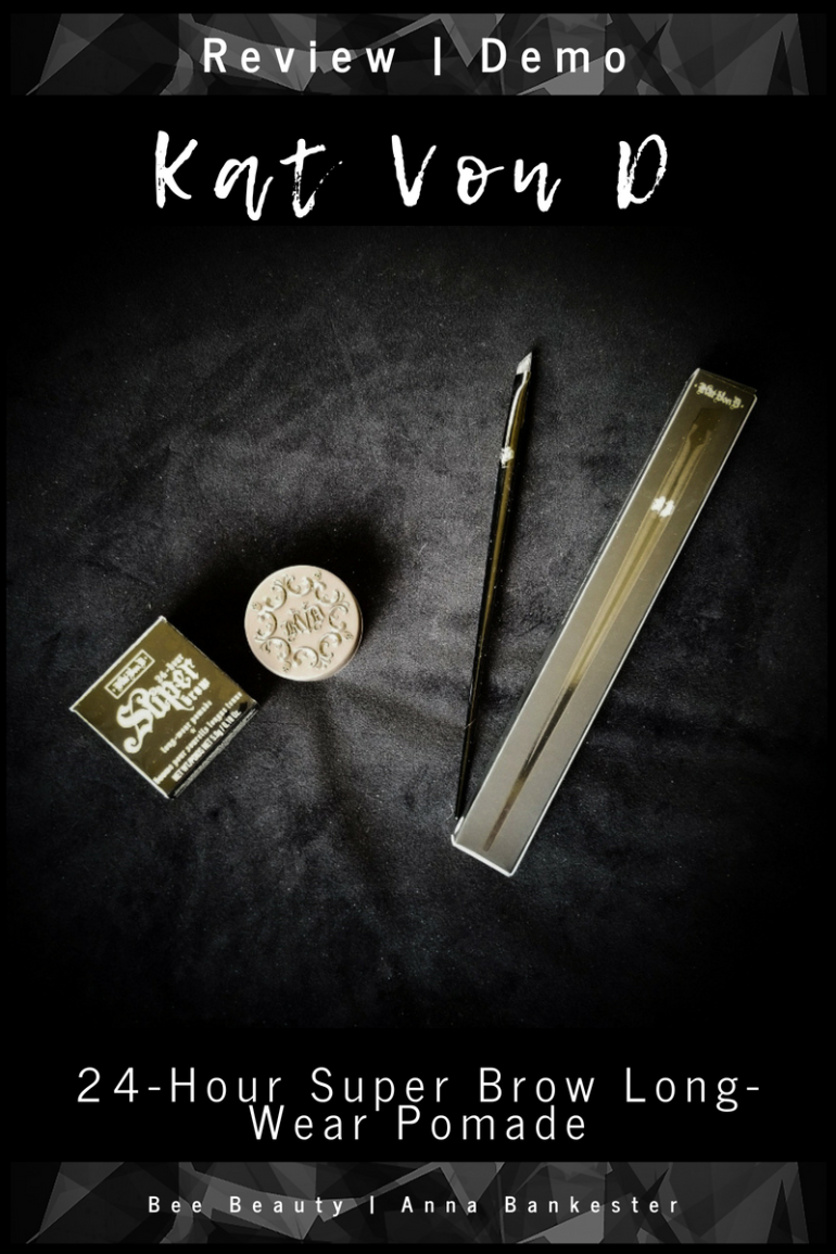 Review | Demo - Kat Von D  24-Hour Super Brow Long-Wear Pomade + Pomade Brow Brush #70