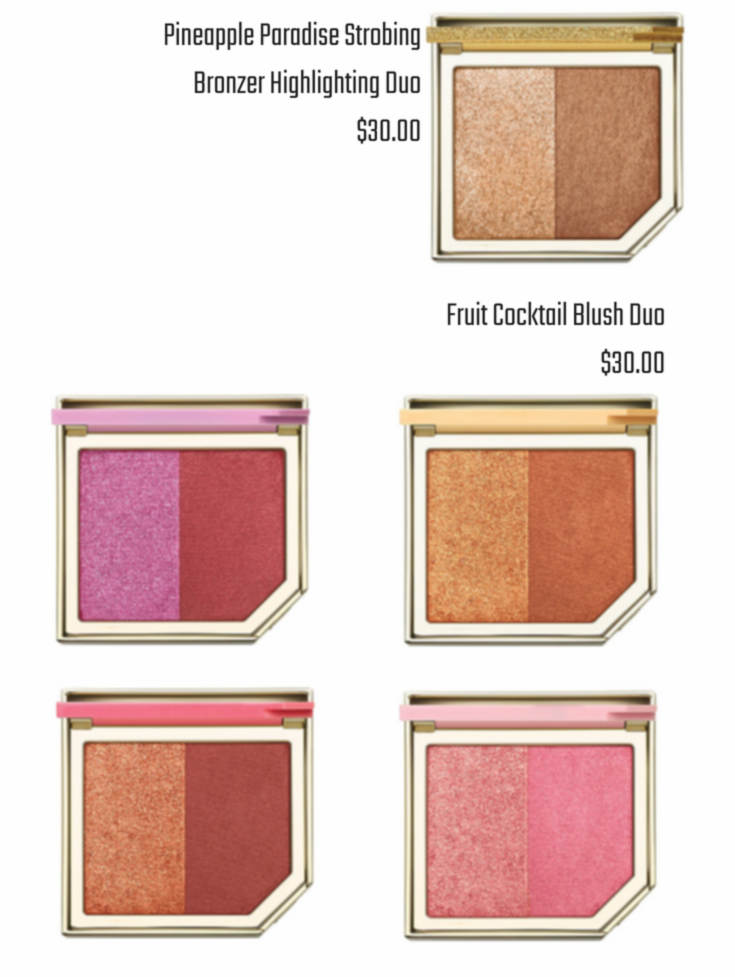 Too Faced - Tutti Frutti Pineapple Paradise Strobing Bronzer + Fruit Cocktail Blush Duo