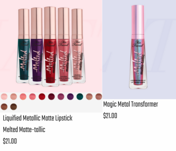 Liquified Metallic Matte Lipsticks and the Magin Metal Transformer