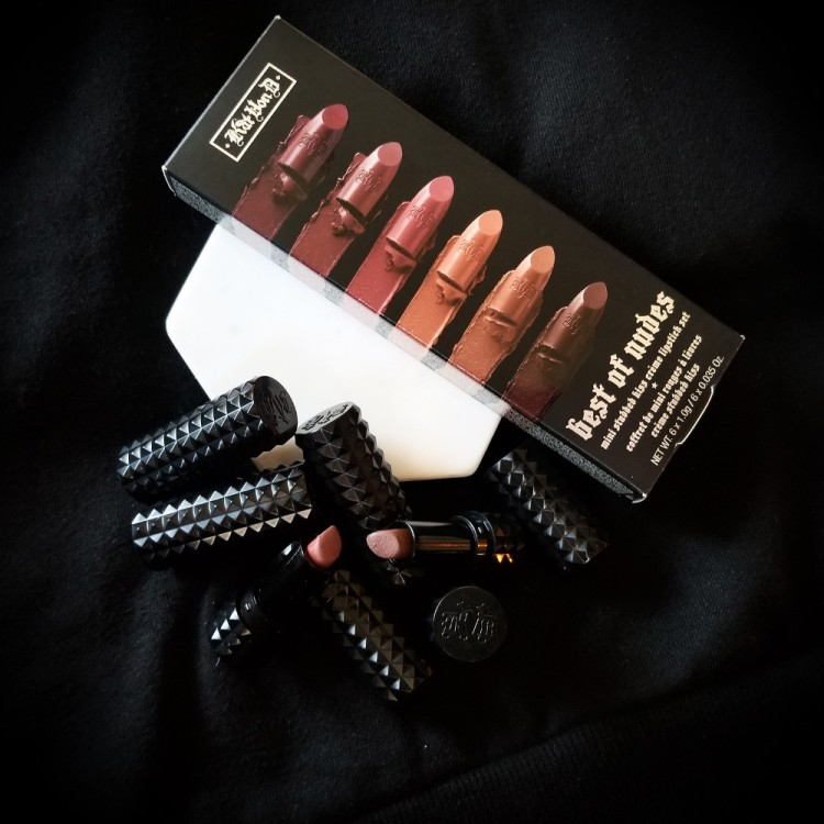Kat Von D Best of Nudes Mini Studded Kiss Lipstick Set