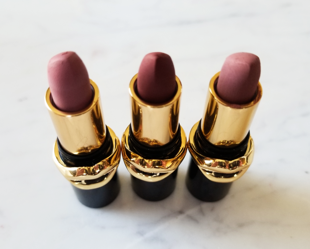Pat McGrath Matte Trance Lipsticks in the shades 1995, Omi, and Flesh 3
