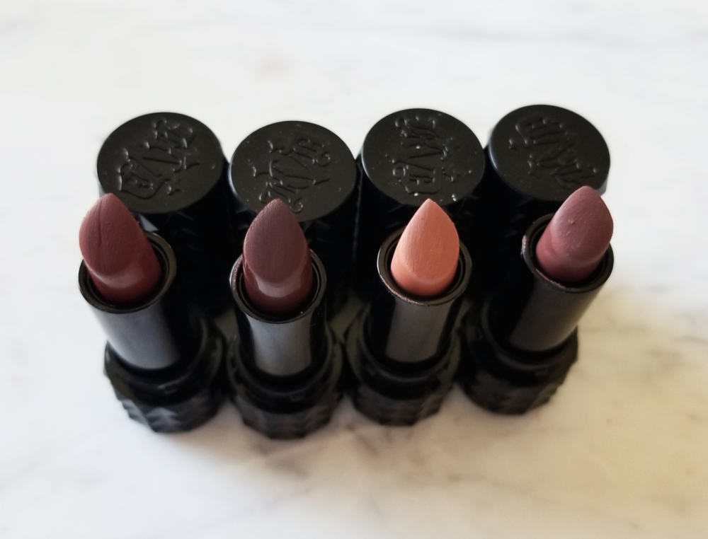 Kat Von D Studded Kiss Lipstick in Crucifix, Hawkwind, Ophelia, and Sanctuary