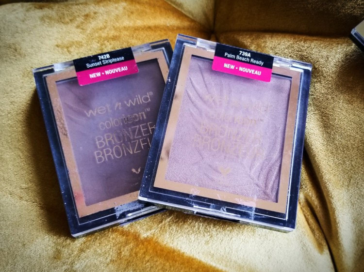 Wet N Wild Coloricon Bronzer in Sunset Striptease and Palm Beach Ready.