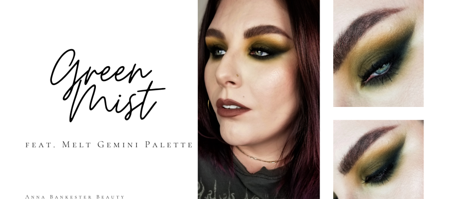 GREEN MIST. GRUNGY MAKEUP TUTORIAL FEAT MELT GEMINI.