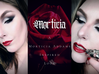 Morticia Addams Inspired Look using All Drugstore Makeup.