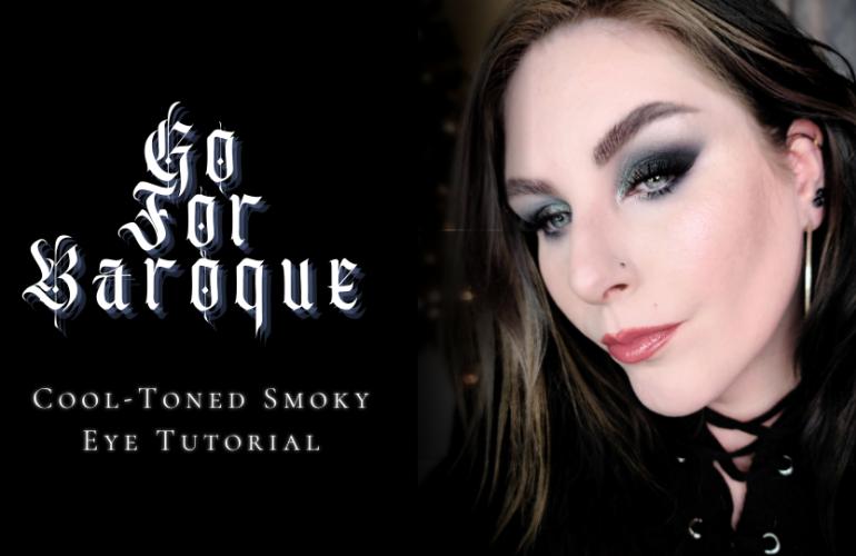 Cool toned smoky eye makeup tutorial