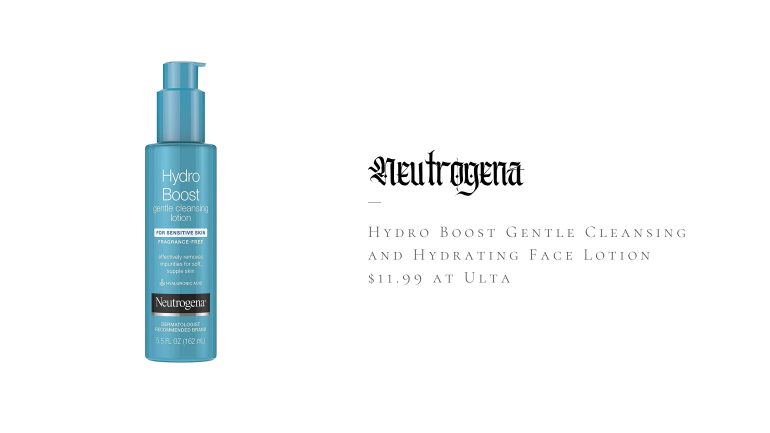 Neutrogena Hydro Boost Gentle Cleansing and Hydrating Face Lotion