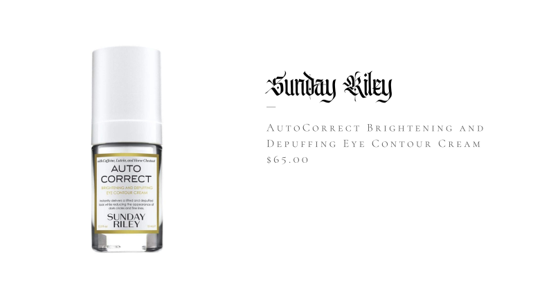 Sunday Riley Autocorrect Brightening and Depuffing Eye Contour Cream