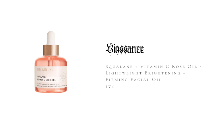 Biossance Squalane + Vitamin C Rose Oil - Lightweight Brightening + Firming Facial Oil