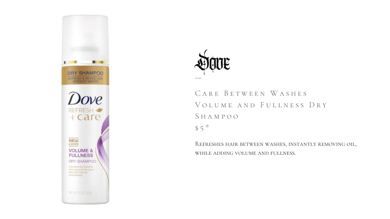 Dove Care Between Washes Volume and Fullness Dry Shampoo