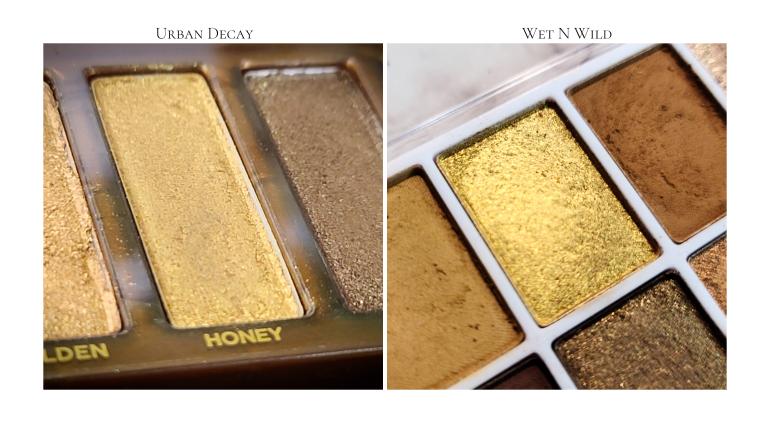 Wet n Wild Call me Sunshine vs Urban Decay Naked honey